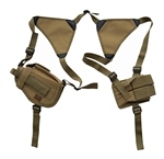 TG208TA-3 Tan Horizontal Shoulder Holster and Pouch (3 pcs) - 3L-INTL