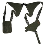 TG235GA OD Green Universal Horizontal Shoulder Holster with Mag Pouches - 3L-INTL