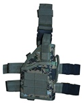 TG246WR Woodland Digital Camo Tactical Leg Holster with Web Straps Right Handed - 3L-INTL