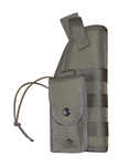 TG259G-2 OD Green MOLLE Tactical Holster with Pouch (2 pcs) - 3L-INTL