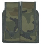 TG302C Woodland Camouflage MOLLE Universal Double Rifle Mag Pouch - 3L-INTL