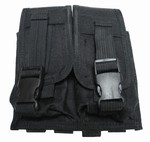 TG305B Black MOLLE Double Rifle Magazine Pouch - 3L-INTL
