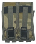 TG305C Woodland Camouflage MOLLE Double Rifle Mag Pouch - 3L-INTL