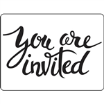 Darice - Embossing Folder You're Invited