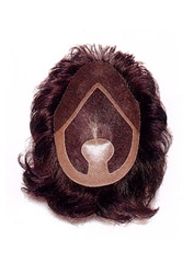 Human Hair Men's Toupee Wigs