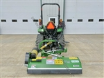 "Flail Ditch Bank Mower, Peruzzo Fox Cross 1200: 47"" Cut, 20HP+, AdjustOnTheFly! Convertible To a 3-Point Dethatcher - BEST BUY & BRAND!"