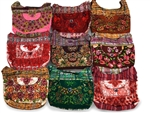 SHOULDER BAG MADE FROM TRADITIONAL GUATEMALAN MAYAN INDIAN BLOUSES
