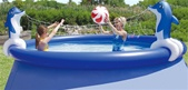 Dolphin Volleyball Set for Ring Pools  Pool Toy