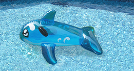 Blue Splash Ride-on Whale Pool Toy