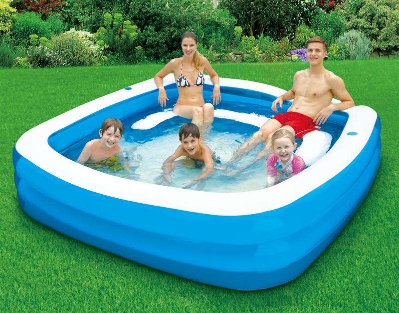 Best Backyard Pool For Toddlers : pool who says squares can t party larger family pool fun for kids