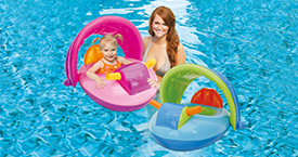 Jet Ski Baby Float with Canopy