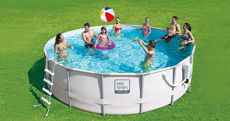 Ideal for both large groups of swimmers and quick dips to cool off, this  circular frame pool comes complete with everything you need to get set up  and ... - The 28 Best Above Ground Swimming Pools In 2017 Safety.com