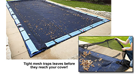 18' x 36' Rectangular In-Ground Pool Leaf Net Cover