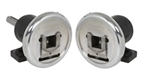 "Safety Chuck pair - Foot Mounted - 52mm square pocket - One with: 1-7/8"" mounting shaft x 4.33"" long with 1/2"" wide x 1/4"" deep x full length keyway"
