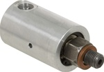 "Rotary Union - 1/8"" NPT Female Port - 3/8"" -24 RH Male Rotor Air & Hydraulic"