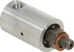 "Rotary Union - 1/8"" NPT Female Port - 3/8"" -24 LH Male Rotor Air & Hydraulic"