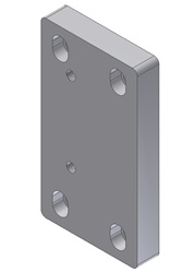 "Adapter Plate - From Superchuck Model B with 1.25"", 1.5"" square to PIO/W35"