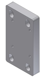 "Adapter Plate - From Superchuck Model B with 1.75"" square to PIO/W50"