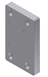 "Adapter Plate - From Superchuck Model BH with 1.75"" square to PIO/W50"