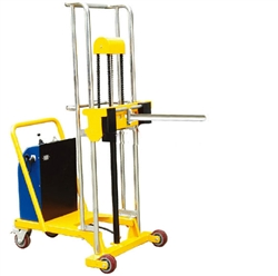 "B-9838: Electric Roll Lifter, 550 Pound Capacity, 59"" Max. Height with 25"" lg single spindle"
