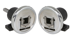 "Safety Chuck pair - Foot Mounted - 1-9/16"", 1-3/4"" or 2"" square pocket - 1-7/8"" mounting shaft"