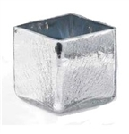 "Crackle Cube 5.5"" x 5.5"" x 5.5"" - Silver"