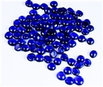 Flat Glass Marbles - Cobalt Blue (Bag of 75 marbles)