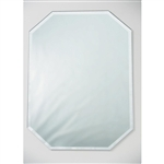 Mirror Placemat - Octagon with Beveled Edge - 12 x 18 inches