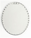 "Oval Scalloped Edge Mirror 8""x10"""