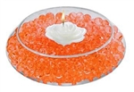 Water Absorbent Marbles, Water Beads, Orange - 1 Pound Bag