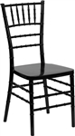 Flash Elegance Black Resin Stacking Chiavari Chair