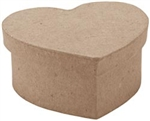 Paper Mache Mini Heart Box (Pack of 6)