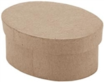 Paper Mache Mini Oval Box (Pack of 6)