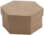 Paper Mache Mini Hexagon Box (Pack of 6)