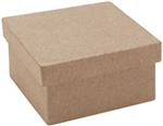 Paper Mache Mini Square Box (Pack of 6)
