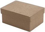 Paper Mache Mini Rectangle Box (Pack of 6)