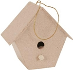 Paper Mache Tapered Birdhouse (Pack of 4)