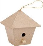 Paper Mache Square Birdhouse (Pack of 6)