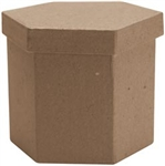 Paper Mache Tall Hexagon Box