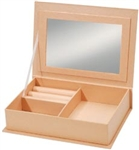 "Paper Mache Jewelry Box W/Mirror 7.5""X5.5"""