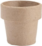 "Paper Mache Clay Pot 4""X4"" (Pack of 6)"