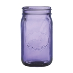"Jardin Mason Jar, 32 Ounce, 6.5"" high, Vintage Purple, Case of 24"