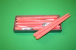 "12"" Taper Candle-Coral (Pack of 12)"
