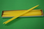 "16"" Taper Candle-Yellow (Pack of 12)"