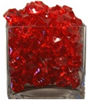 Red Acrylic Rocks 2.5cm