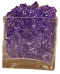 Purple Acrylic Rocks 2.5cm
