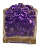 Purple Acrylic Rocks 3.0cm