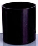 Black Cylinder Glass Vase 6x6