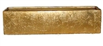 Metal Rectangle Vase 16x4x4 - Gold
