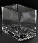 Square Glass Vase 5x3x4